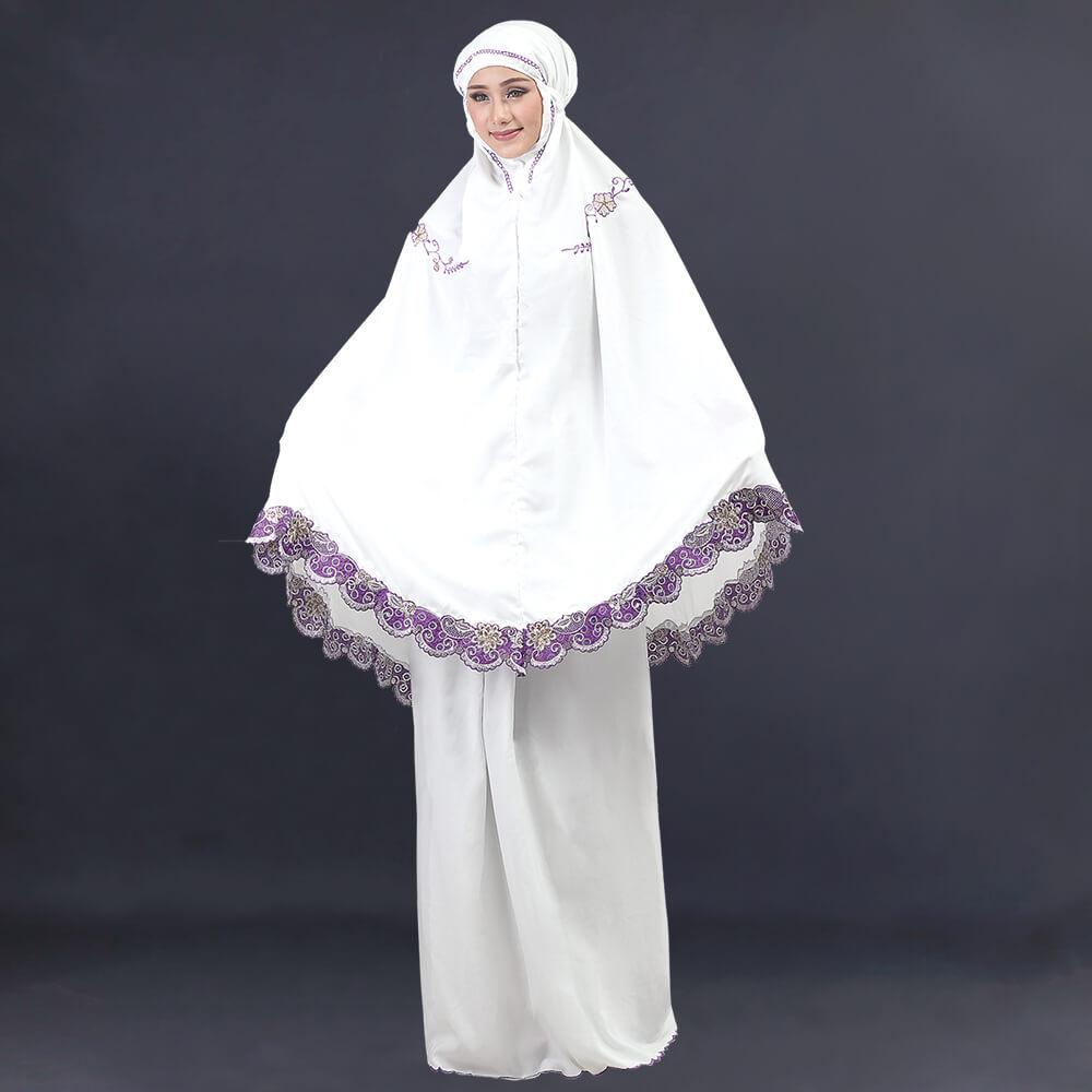 Buy Sell Cheapest Mukena Wanita Cotton Best Quality Product Deals Mukenah Hjh 002 Inficlo Putih Sls 796