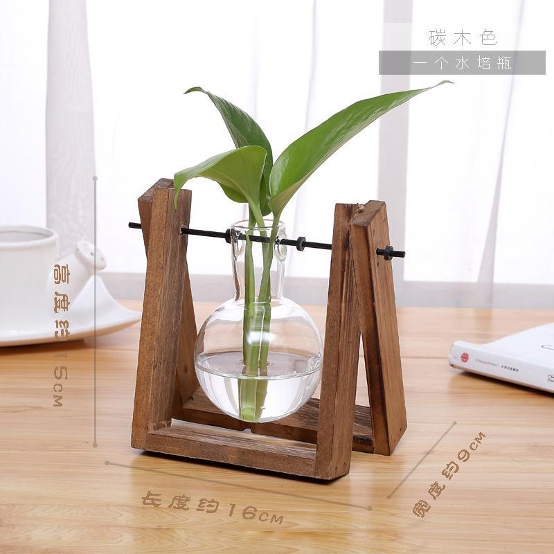 Vas Bunga Kantor Atas Meja Kontainer Segar Kecil Pembiakan Dengan Air