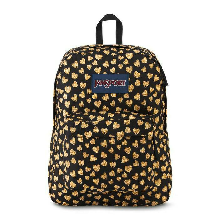tas ransel backpack jansport superbreak glitter heart original - GmTk5V