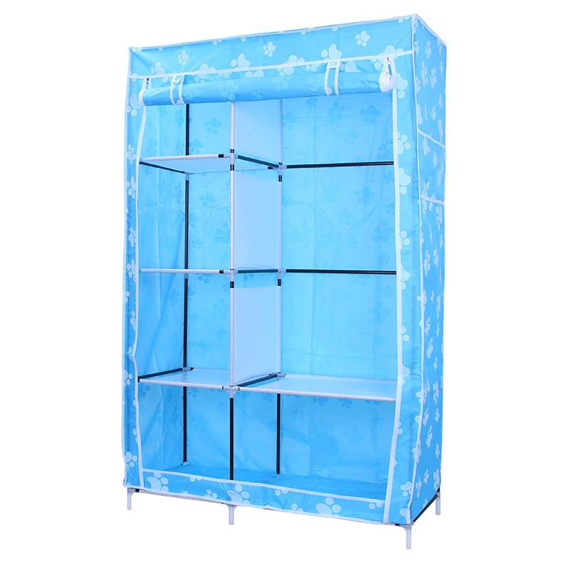 (3KG) 105 Ntox  lemari plastik lemari kain oxford  3 SISI 105 X45X 168CM  Merk SHENAR - 105 NTox milk putih