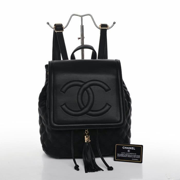 Ransel Chanel ORIGINAL / tas ransel branded / tas import murah/ tas cantik terbaik
