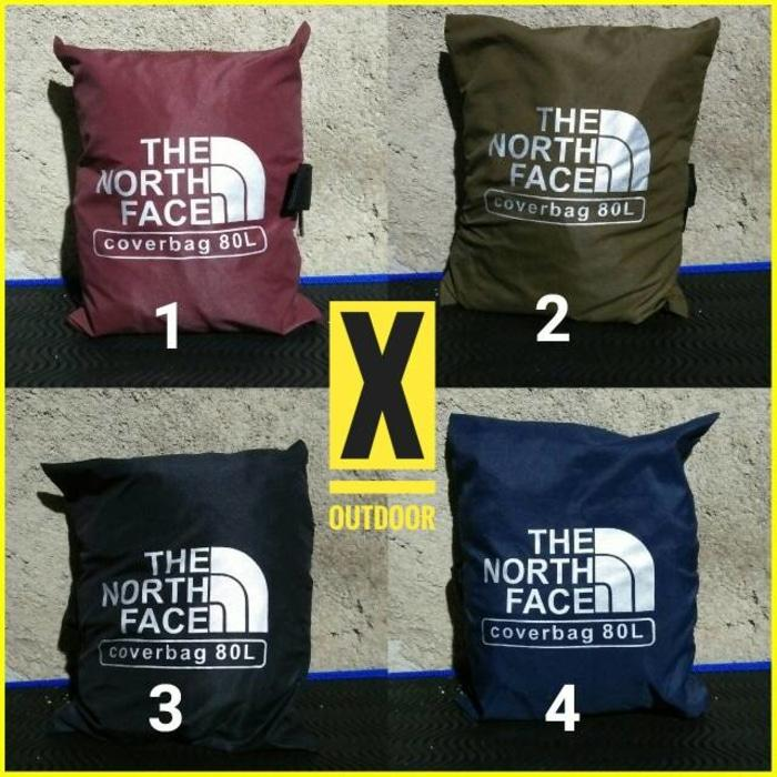 Cover Bag 80L / Rain Cover / Pelindung tas TNF/OSPREY/FJALL RAVEN - r7fnBV