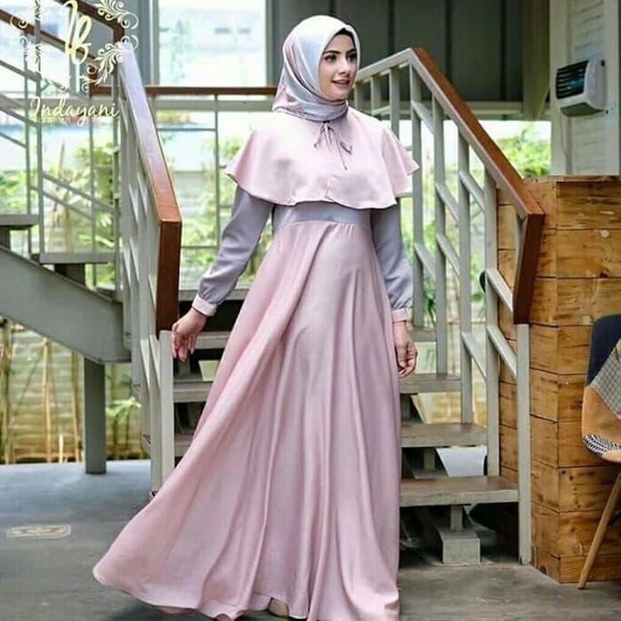 BAJU GAMIS  Fashion Muslim / Dress Gamis Murah / BAJU dress SYARI TERBAIK / DEWI MAXY DUSTY PR001 ORIGINAL