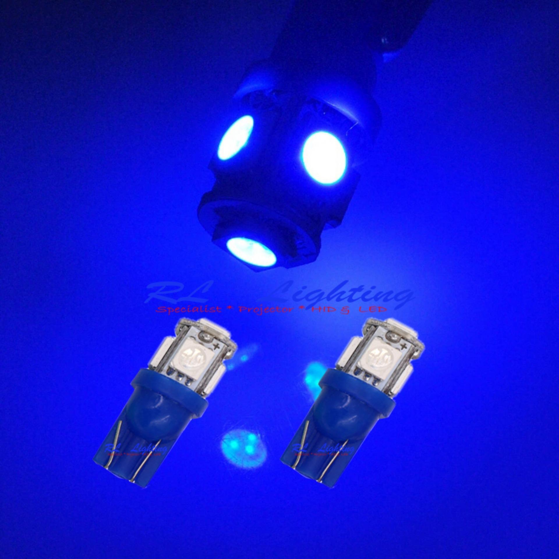 2bh LED Lampu Senja Bola Cucuk Led T10 - Biru