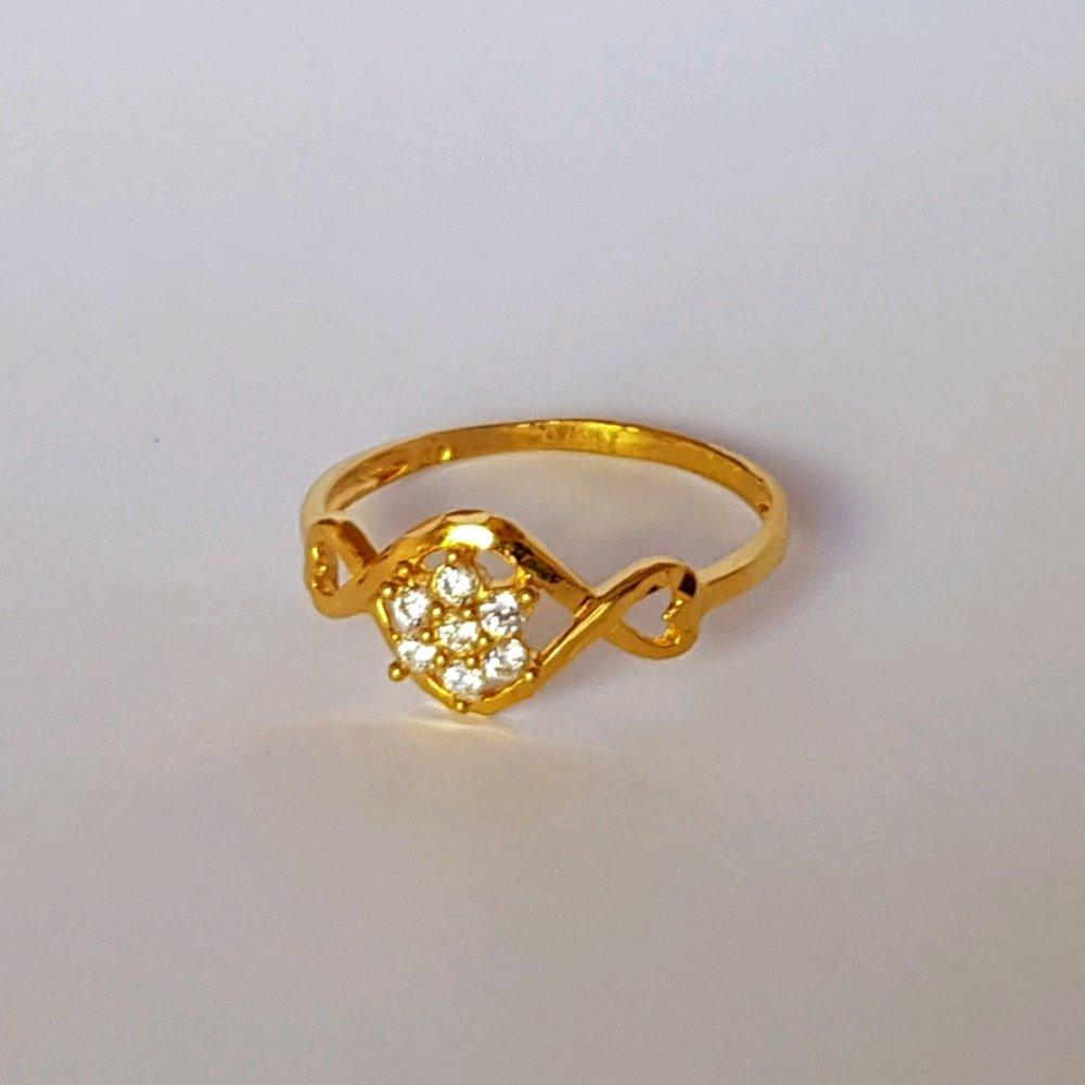 Cincin Emas Asli Kadar 875 Emas 21k Flawless White / Perhiasan Emas Wanita / Gold Ring
