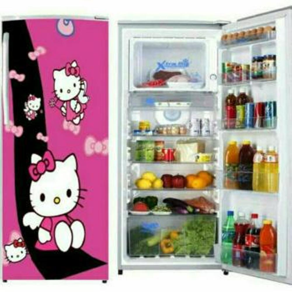 Stiker Kulkas 1 Pintu Wallpaper Kulkas 1 Pintu Motif And Karakter HELLO KITTY ( HELLO KITTY Nya Di Random Ya )