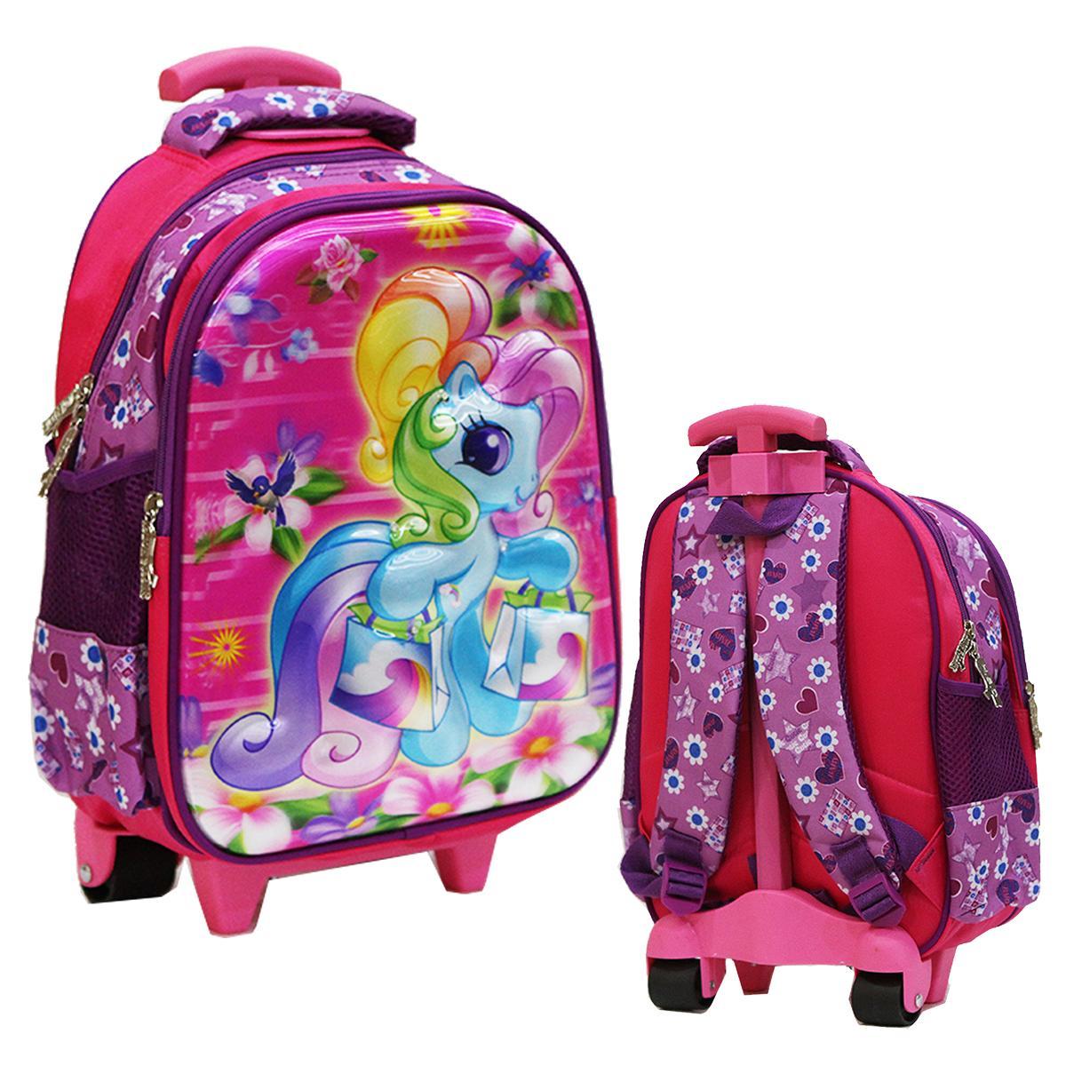 Cek Harga Baru Onlan Tas Trolley Anak Sekolah Tk My Little Pony Cantik 5d Timbul Import Pink Terkini Maret 2019