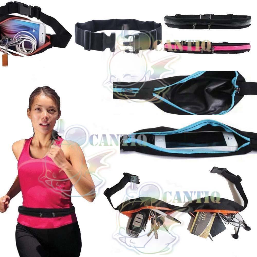 Buy Sell Cheapest Tas Olahraga Bersepeda Best Quality Product Pinggang Joging Lari Anti Air Running Pouch Botol Hp Cantique Waterproof Sport Belt Jalan Santai Sabuk 2 Slot