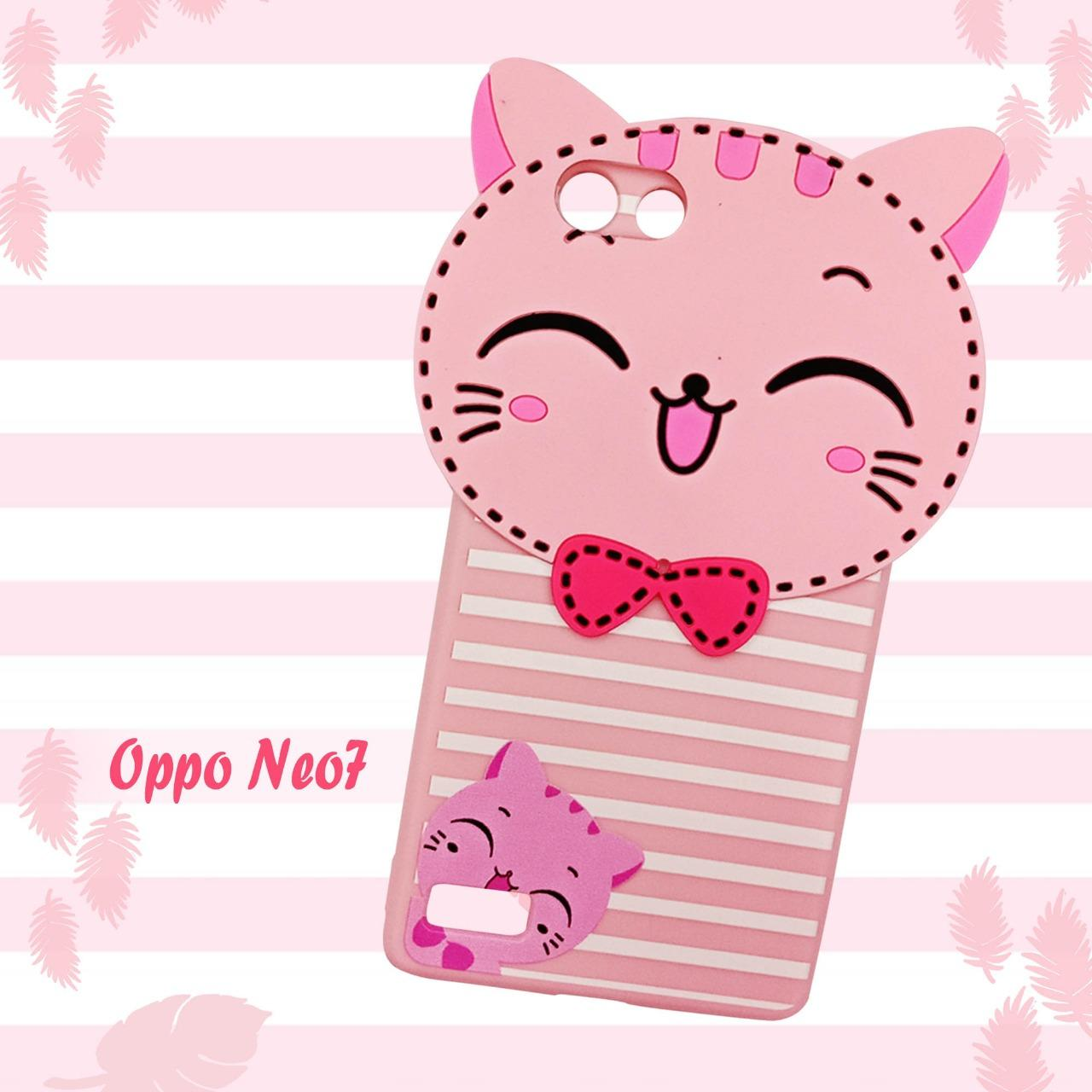Cek Harga Baru Softcase Caracter Timbul For Oppo Neo 7 Terkini Luxo 9 A37 Hardcase Back Case Motif Batik Animals Cat Teddy Pink New
