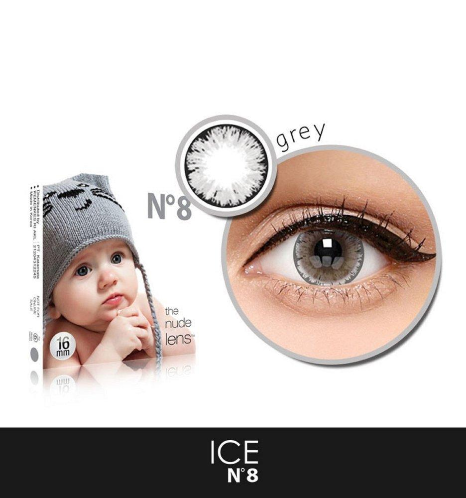 Softlens X2 EXOTICON X2 Ice N8 Grey / Gray / Abu Abu NORMAL