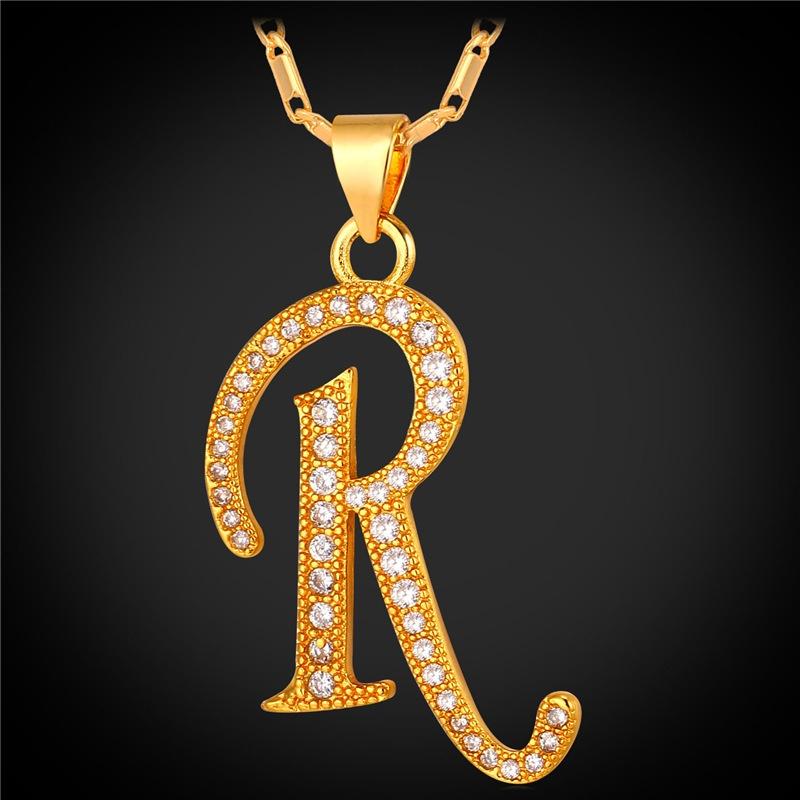 Bahan: 18 Karat Berlapis Emas Yang Sesungguhnya, AAA + Kubik Zirconia. Jenis Perhiasan: Kalung Liontin. image