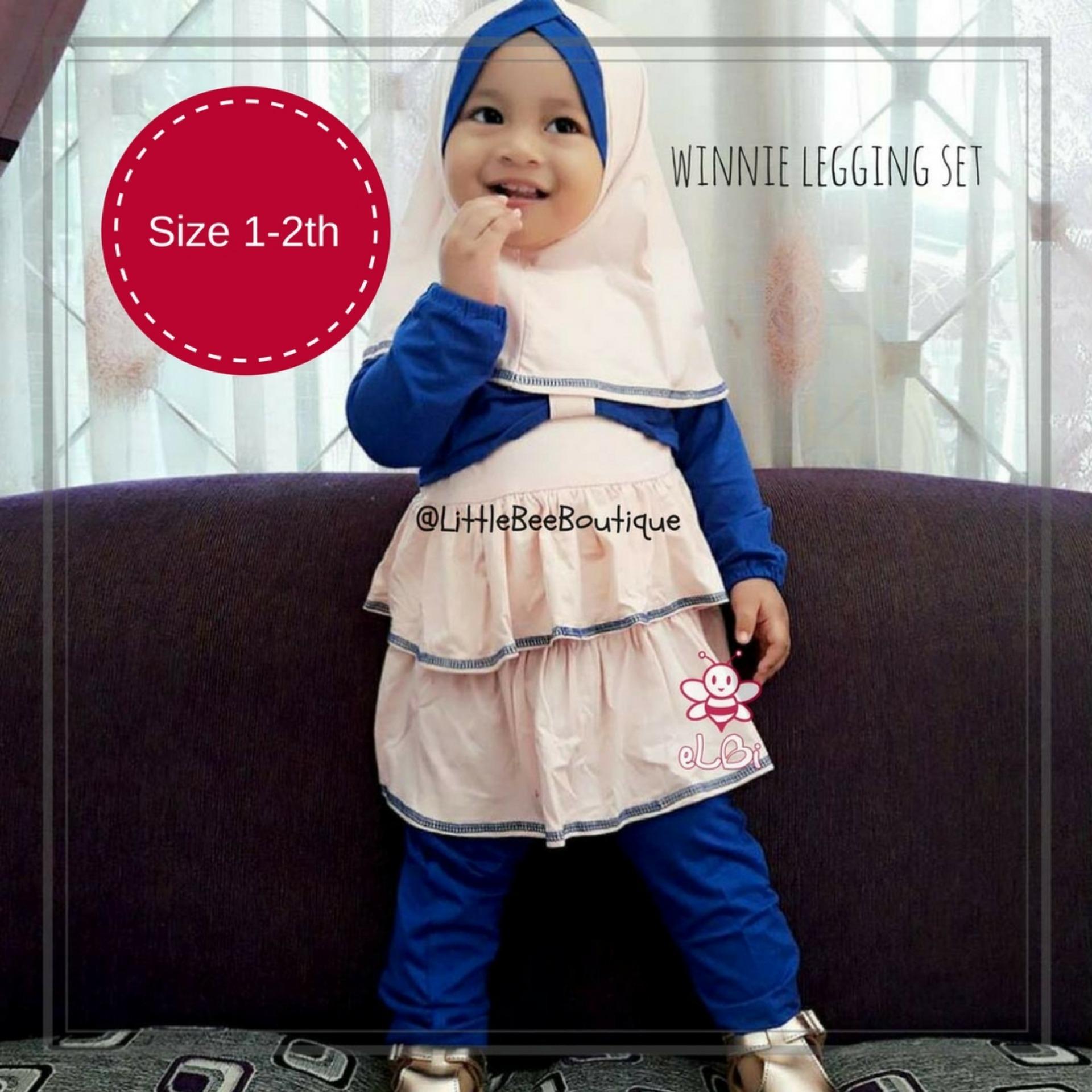 eLBi Winnie Legging Set / Baju Muslim Balita / Setelan Bayi Perempuan / Pakaian Bayi Perempuan / Baju Anak Bayi by Little Bee Boutique