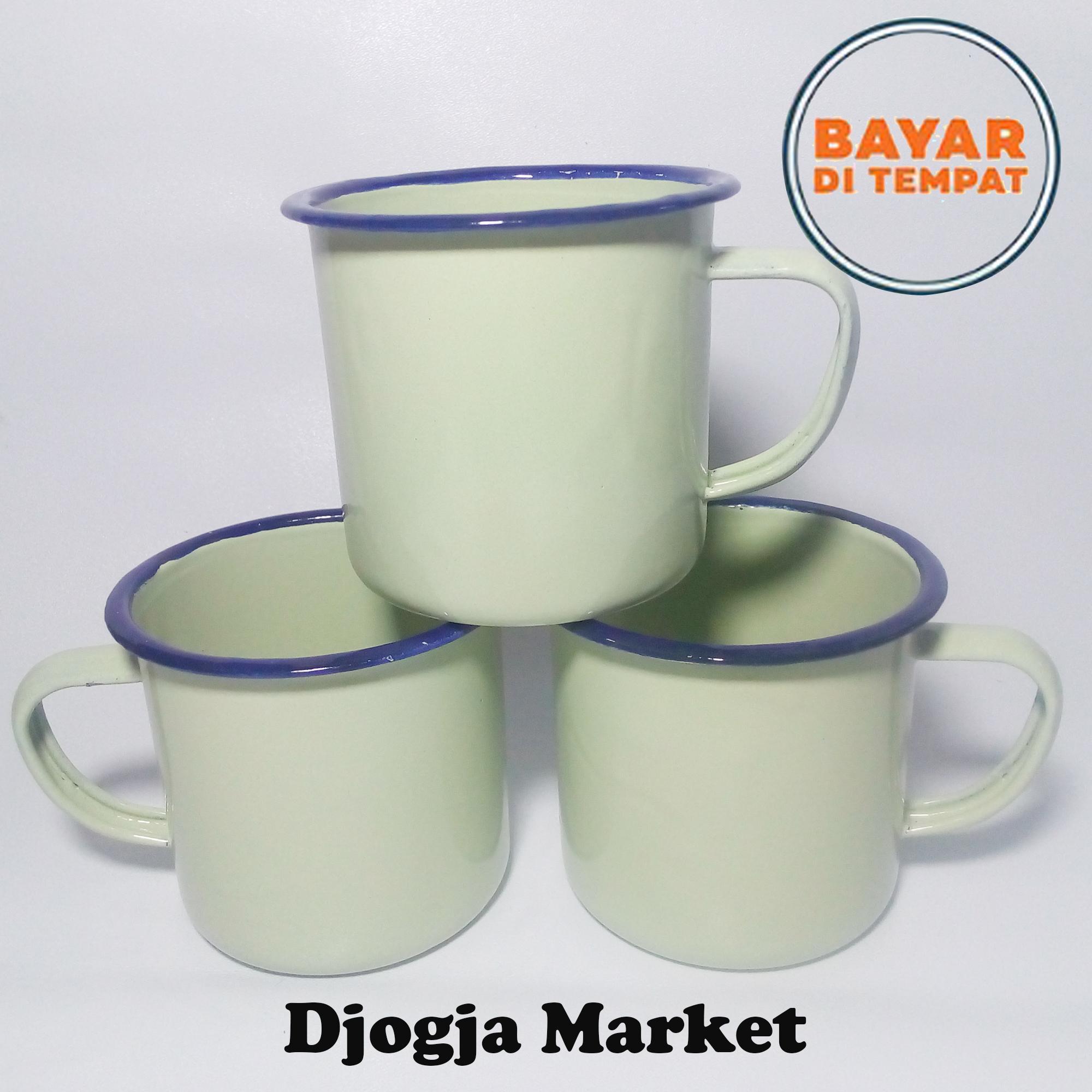 Detail Gambar Djogja Market - Cangkir Enamel | Gelas Jadul | Cangkir Enamel Hijau | Cangkir Kopi | Gelas Kopi Terbaru