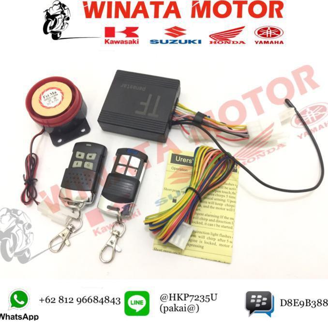 Alarm Motor Pakai Remote Merk Panastar - Motor