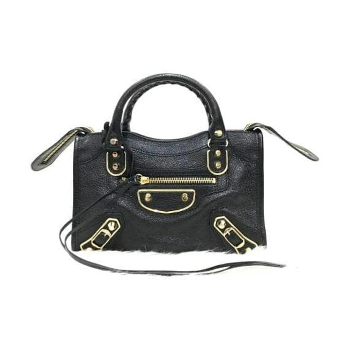 Balenciaga Mini City Edge Black GHW Mila - aCs75i