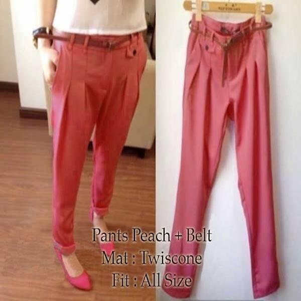 [Pants Peach SW] Celana Wanita Twiscone Salem