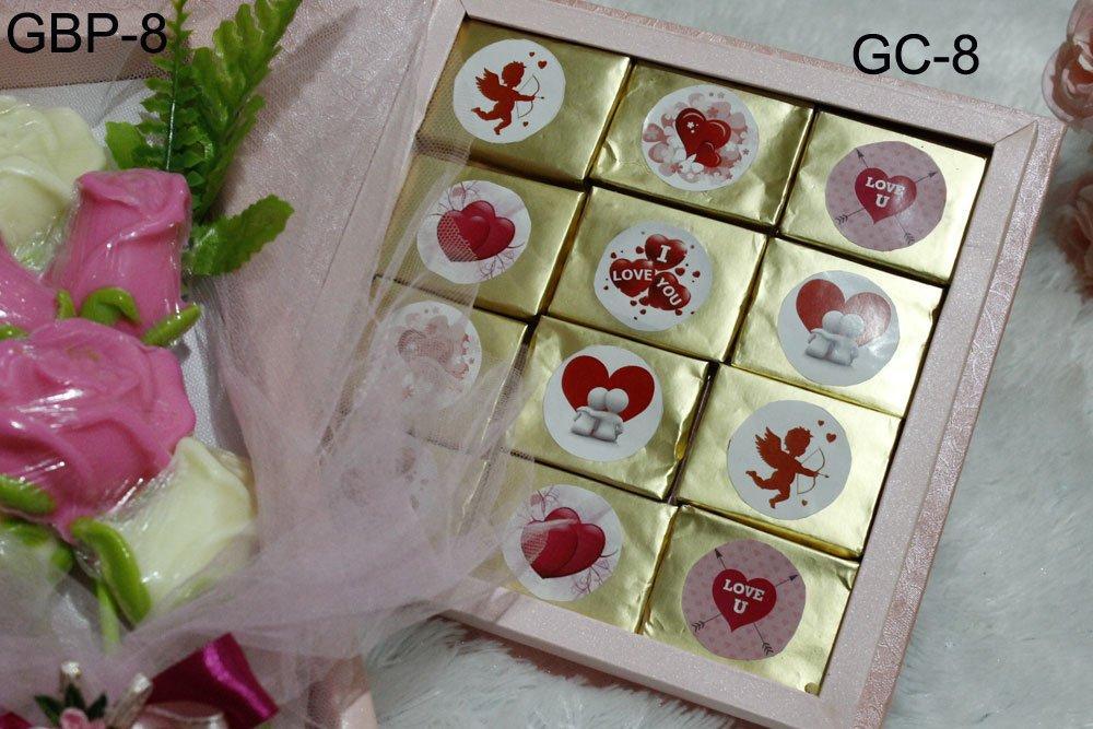 Jual Coklat Valentine Bar GC-8 Dan GBP-8 Include Bouqet Coklat Mawar