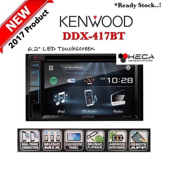 Kenwood DDX-417BT Head Unit DDX 417 BT Tape Mobil Double Din Audio T4450