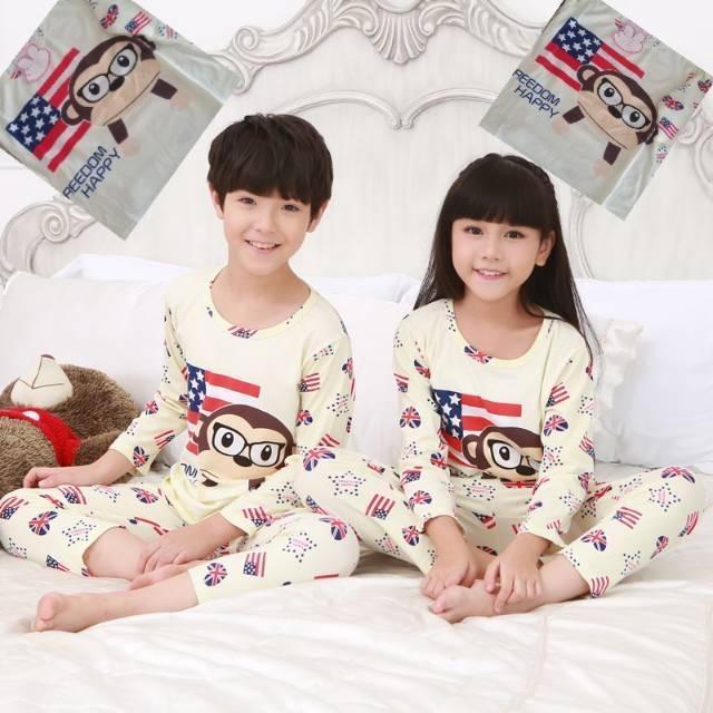 Baju tidur  couple anak monkey