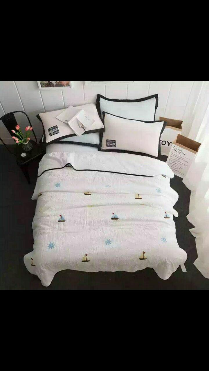Buy Sell Cheapest Promo Exclusive Terlaris Best Quality Product Bedcover  Sutra Murah Bed Cover Buku Cotton 180 X 200 Cm