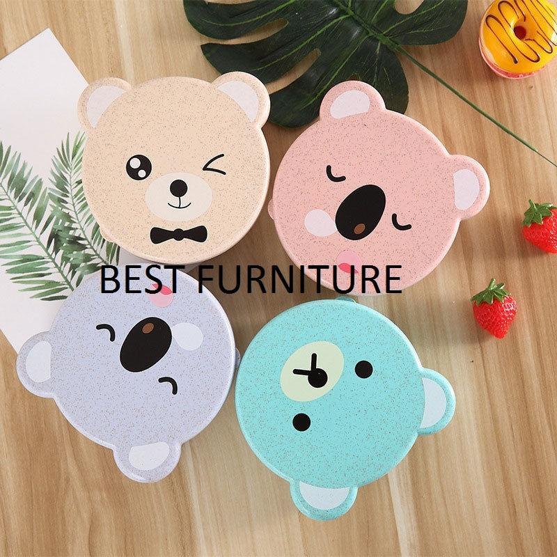 Best Furniture Set isi 3Pcs Tempat Makan Imut Koala Bear Lunch Box Kotak Bekal Food Container Kue / Buah / Makanan - Random