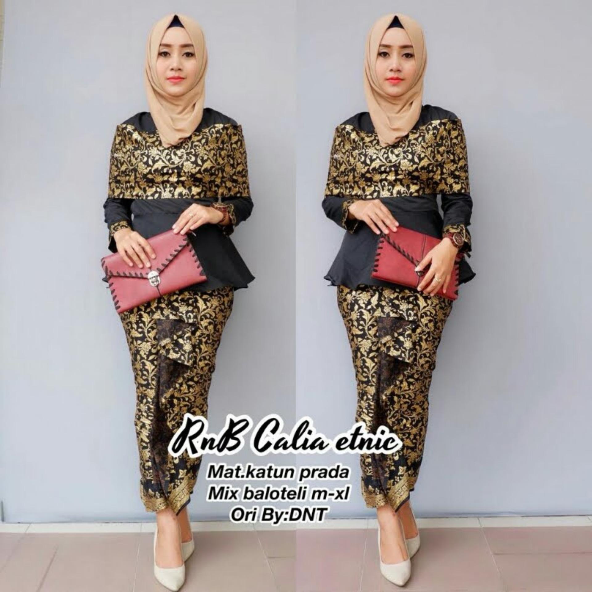 Raggunan Store Setelan Kebaya Atasan dan Bawahan Kebaya Modern Baju Murah Batik Wanita Baju Wanita Batik