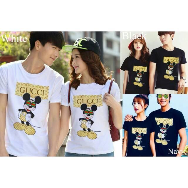 Kaos Couple GC Mickey / Kaos Couple Gucci Mickey/Baju Pasang Kekinian