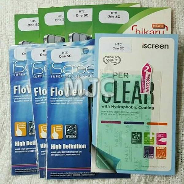 HIKARU Anti Gores HTC One SC Screen Guard Indoscreen Ready Clear Glare