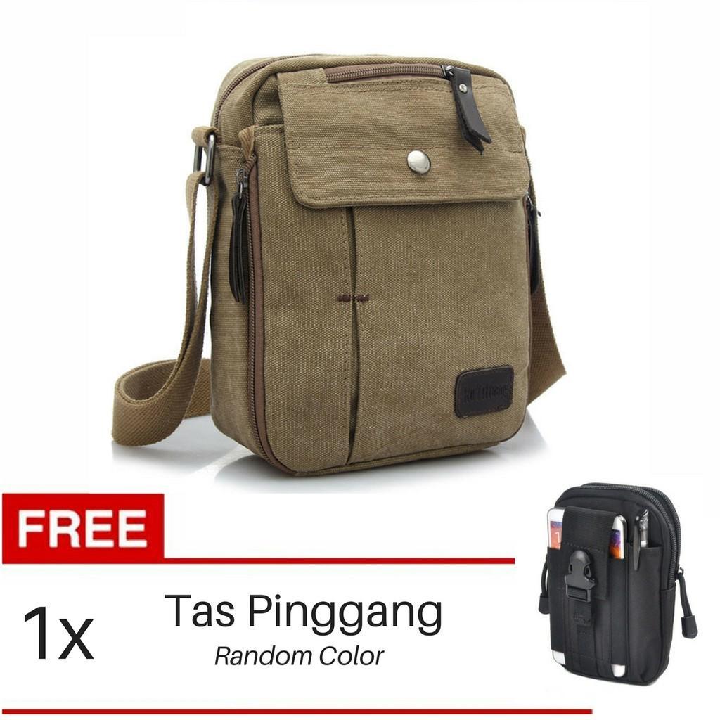 Kelebihan Original Murah Tas Slempang Impor Uncle Star Kanvas Import Pria Militer Messenger Shoulder Bag Pinggang