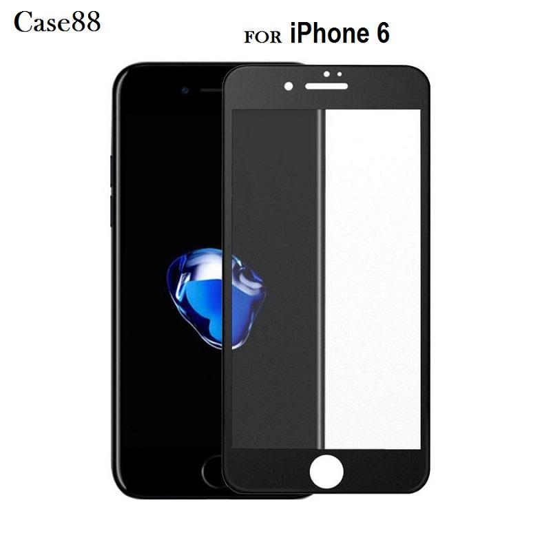 3D Full Cover Tempered Glass Warna For Iphone 6 - Hitam