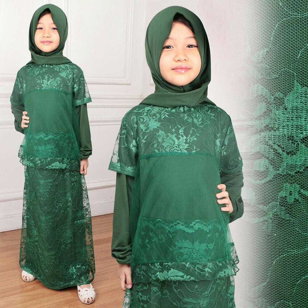 Tekken Fashion - Pakaian Anak Perempuan Fashionable - Gamis Kids - Liala Hijab