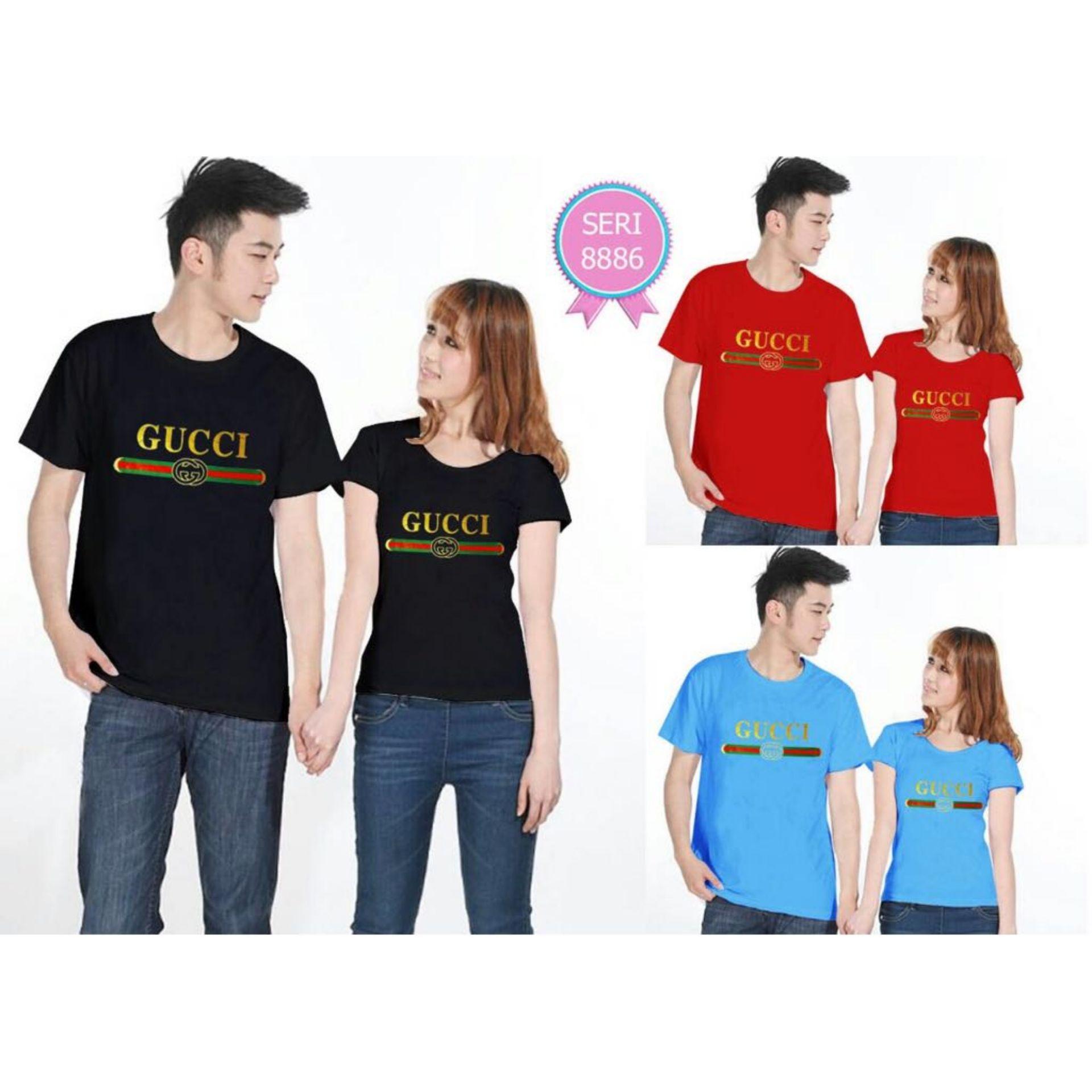 Kaos pendek - kaos oblong - kaos couple - kaos polos - kaos motif - kaos gucci