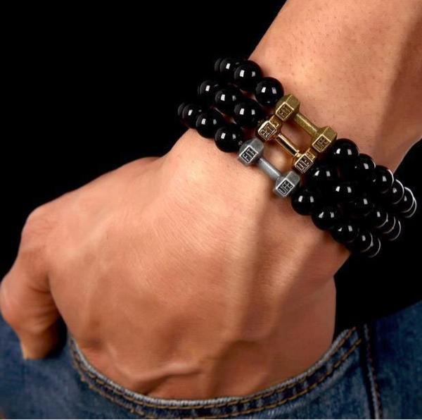 gelang bracelet barbel dumbell fit life fitness gym olahraga - fNwhAO