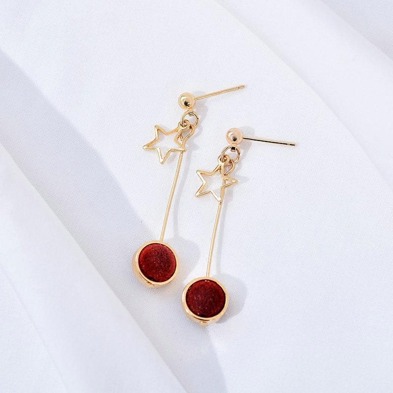 Amefurashi Anting Korea Daun Kristal Crystal Leaf Rhinestone Curved Clip Earring - 2. Source ·