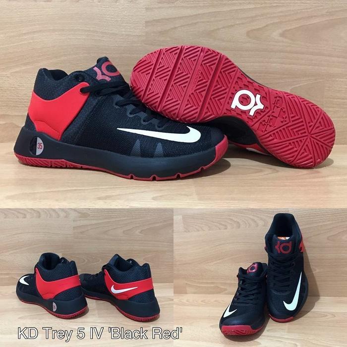 Sepatu Basket Nike Kd 5 Trey IV Black Red