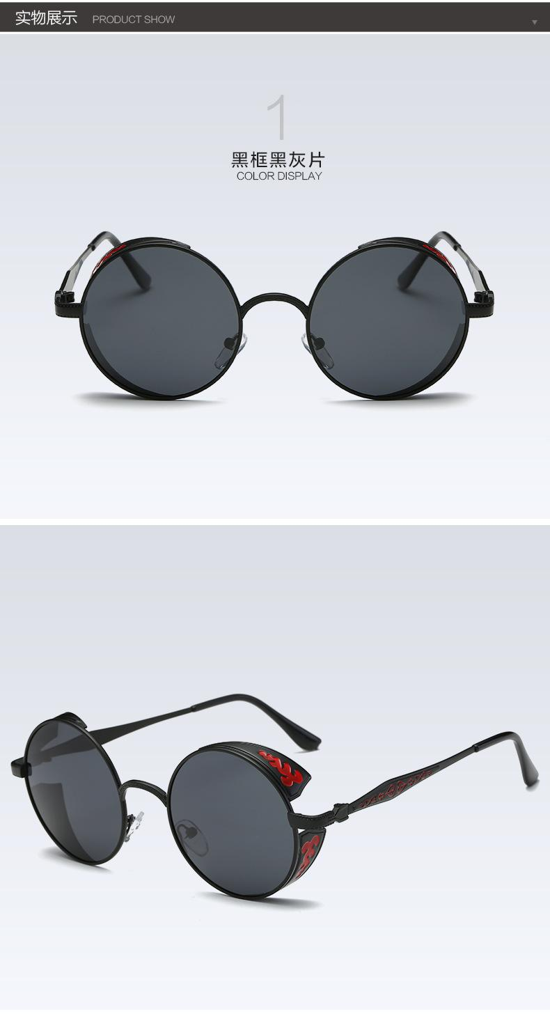 Fashion Retro Pria Dan Wanita Steampunk Kacamata Hitam Terpolarisasi Uv400 Perlindungan Antik Lensa Kaca Untuk A371