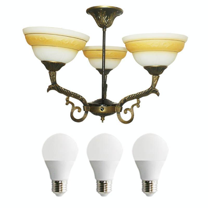 EELIC LHG-32 Lampu Hias + 3 PCS LED 5 WATT  Gantung Kap Lampu Model Mangkok Berbentuk Mangkok Cantik