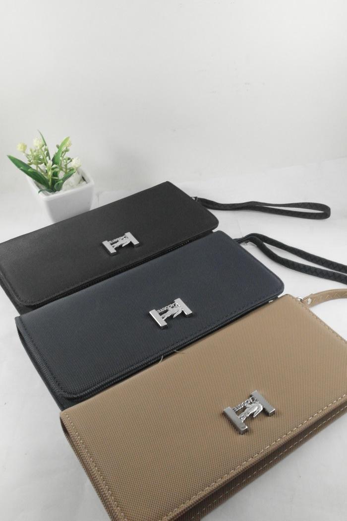 Tas dompet wanita cantik import hadiah kado bagus lacoste zip wallet