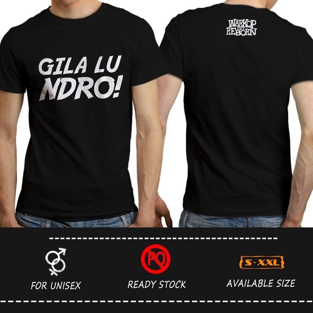 Kaos Warkop DKI RebornGilaLuNdro! Hitam ( Distro Warung Kopi Komedi Dono Kasino Indro @OTDESIGN ) Jangkrik Bos Boss