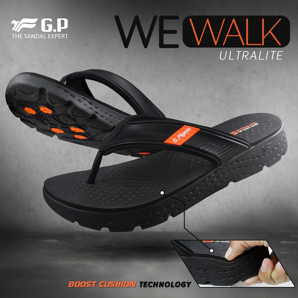 Beli Gold Pigeon Sandal Jepit Pria Ultralite Wewalk Black Orange Echo G8503m 10 Men Igwa
