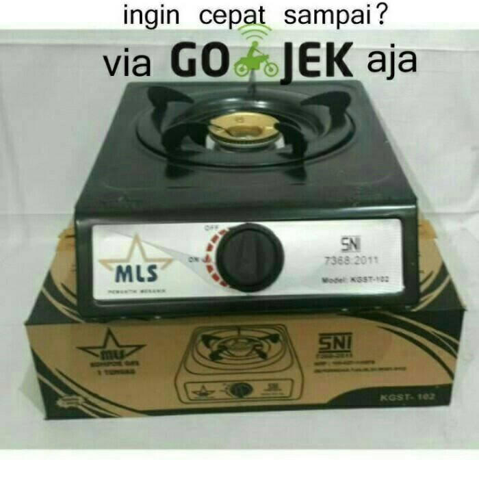 Kompor Gas 1 Tungku murah merk MLS KGST 102 (SNI)