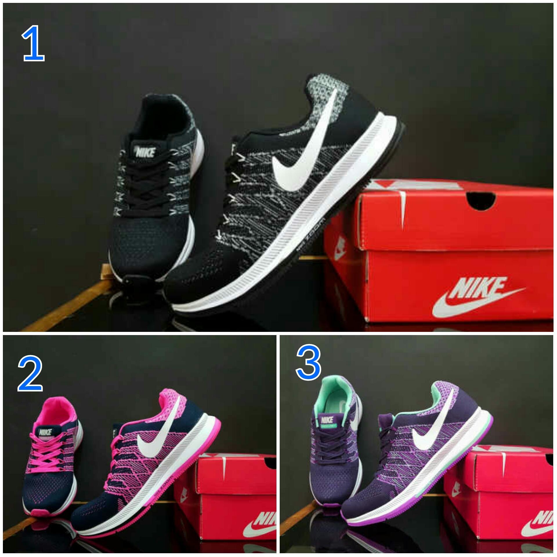 Promo Sepatu Wanita Olahraga Fitnes Nike Zoom Flyknite Made In Vietnam Murah Fashion