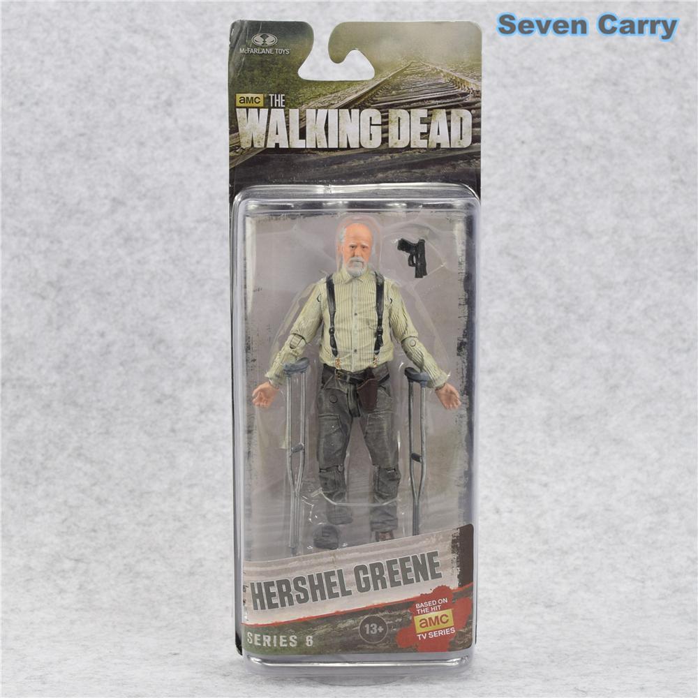 AMC TV Series Berjalan Mati Abraham Ford Bungee Walker Rick Grimes Gubernur PVC Action Figure Model Mainan Boneka-Intl