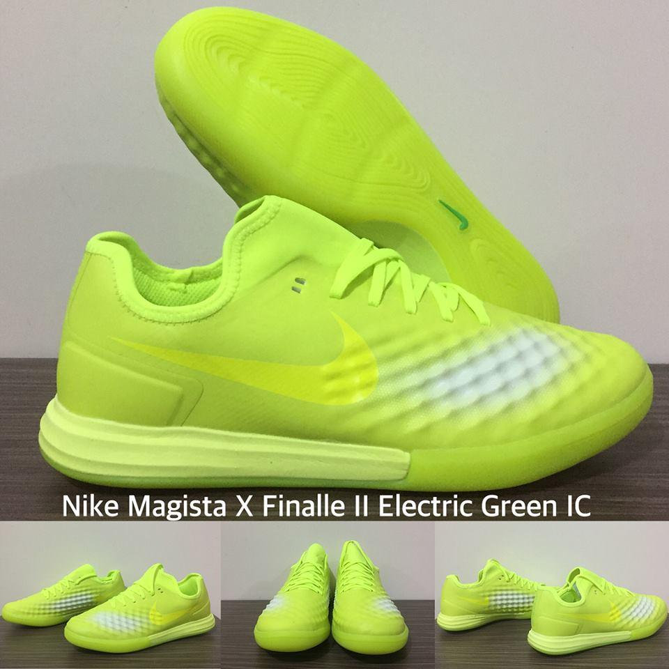 SEPATU FUTSAL NIKE MAGISTA X FINALLE II ELECTRIC GREEN IC + GRADE PREMIUM + BOX ORIGINAL !