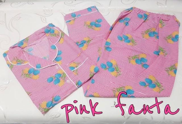 DAMAI FASHION JAKARTA - piyama wanita salur TULIP FLOW 4 warna - konveksi baju murah tanah abang