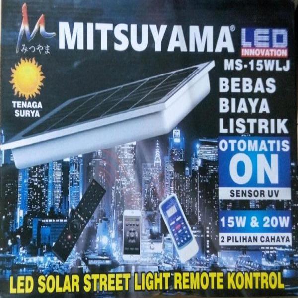 LED SOLAR STREET LIGHT REMOTE KONTROL - LAMPU JALAN MITSUYAMA - PJU SOLAR TENAGA SURYA