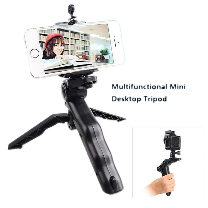 PALING DICARI 3 in 1 Stand Portable Mini Folding Tripod for DSLR HP Action Camera PROMO TERLARIS