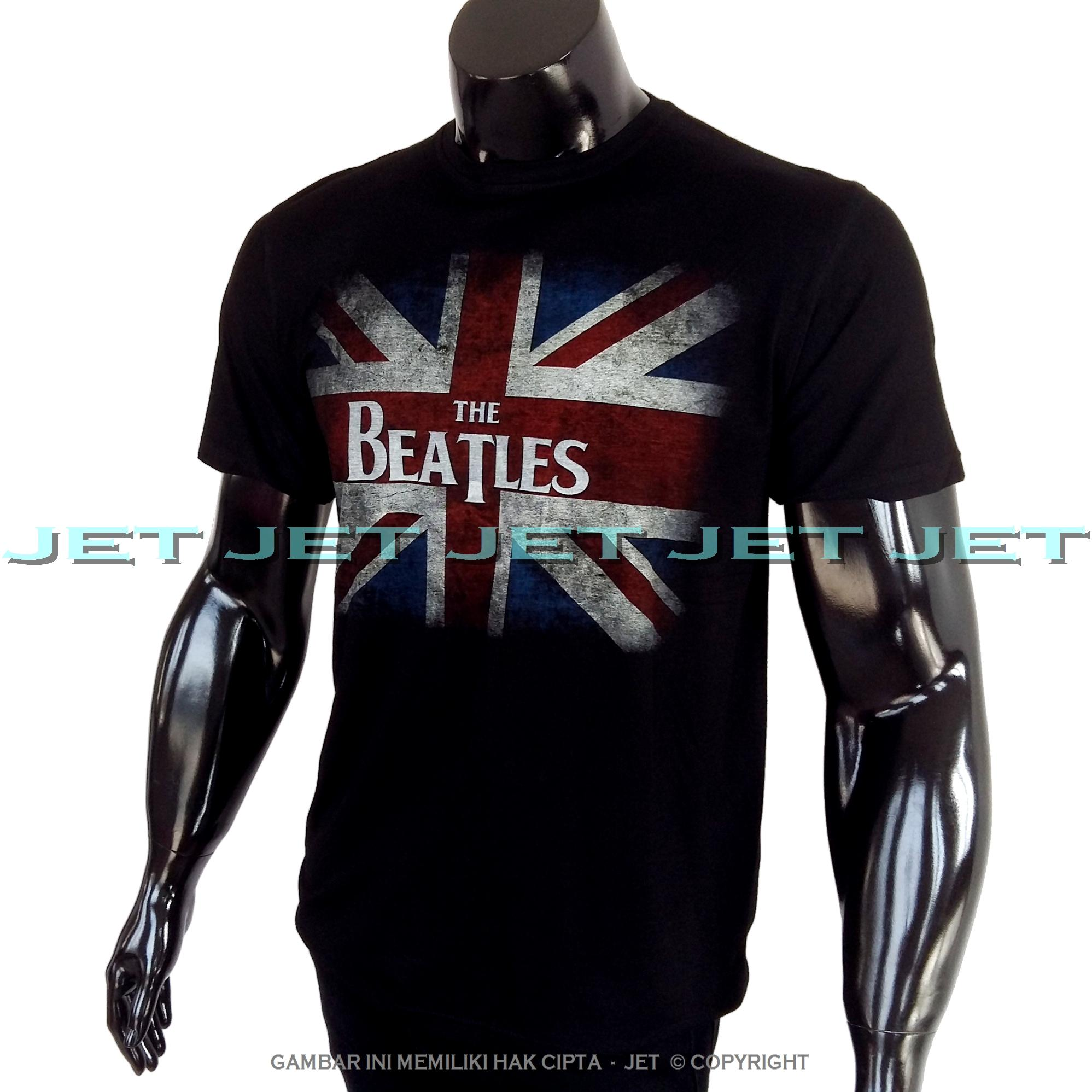 Detail Gambar JET - THE BEATLES 100% Soft Cotton Combed 30s Kaos Distro Fashion T-Shirt Atasan Oblong Baju Pakaian Polos Shirt Pria Wanita Cewe Cowo Lengan ...