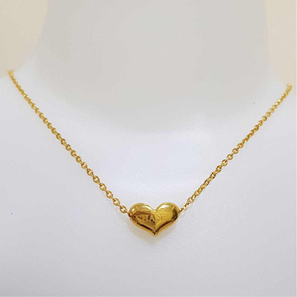 Kalung Liontin Emas Asli Kadar 875 Love Chanel Kalung Wanita