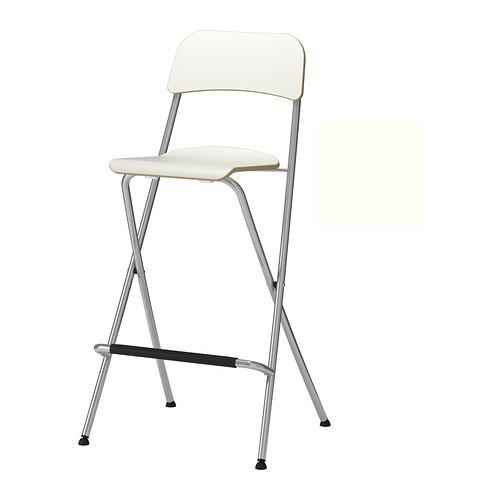 IKEA FRANKLIN Kursi Bar Putih 63 Cm Dengan Sandaran- Dapat Dilipat NEW